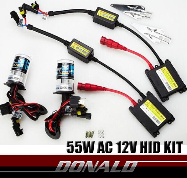 55W AC Super Slim Digital Xenon Hid Conversion Kit H1 H3 H4-2 H7 H8/H9/H11 9005 9006 Fog Driving Lights Low/High Beam Headlights(China (Mainland))