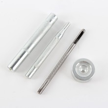 Metal Fixing Tool Kit Hollow Hole Punch Tool Sewing Leather Button Snap Fastener Free Shipping
