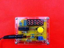 DIY Kits 1Hz-50MHz Crystal Oscillator tester Frequency Counter Meter with case free shipping(China (Mainland))