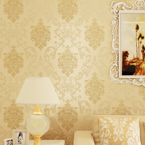 Free shipping hot sales european damask wallpaper for Bedroom wallpaper sale