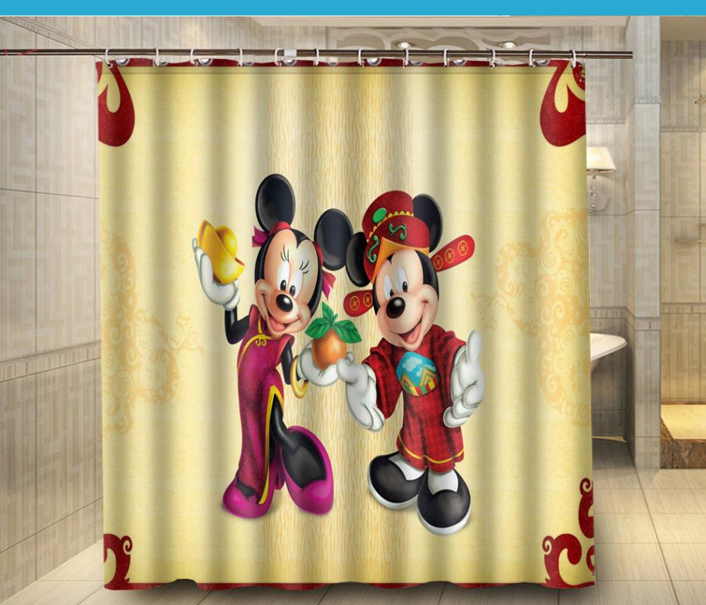 Mickey mouse rideaux promotion achetez des mickey mouse for Rideau de douche tissu impermeable