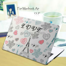 """Dull Polish LOVE Tower Pattern Protective Case Cover for 13.3"""" MacBook Air(China (Mainland))"""