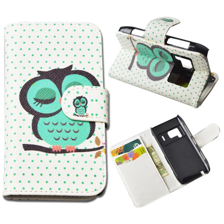 Printing Leather Cover For Nokia N8 Wallet Case With Stand and Card Holder 10 Colors in Stock(China (Mainland))