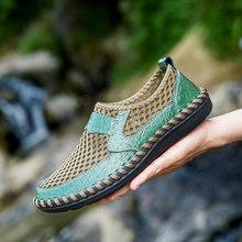 2019 Nova Primavera Homens de Couro Mocassins Sapatos Casuais Moda Respirável sapatos de Malha Homens Sapatos Mocassim Zapatos Mocasines Hombre Tamanho Grande homens(China)