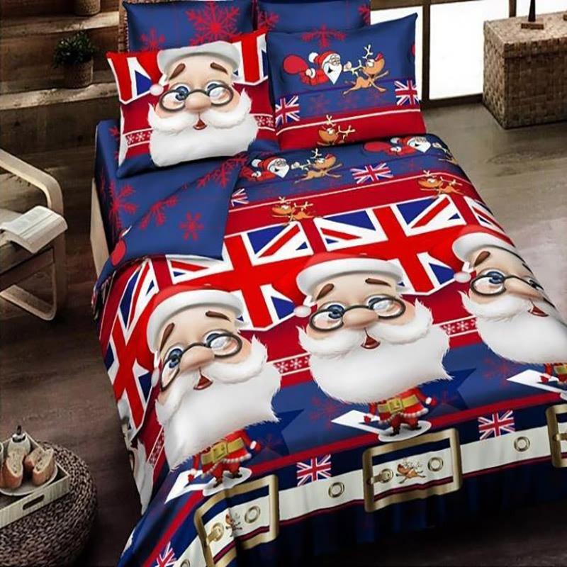 100% cotton 3d christmas bedding 4pcs queen comeliness bedding loveliness snug bedding comfortable gloriou comfort bedlinen #3(China (Mainland))