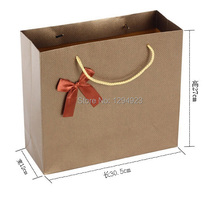 Size 30*12*27cm wholesale luxury paper shopping bag Free Shipping(China (Mainland))