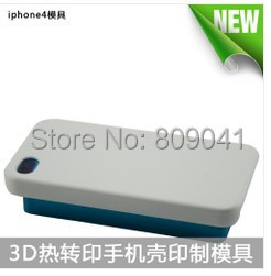 DIY case 3D sublimation metal moulds for Apple 4S free shipping