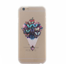 Newest Soft TPU Butterfly Flower Pattern Cover Case For APPLE iPhone 6 6S 4.7inch Cases Back shell For iPhone6 plus Fundas Capa
