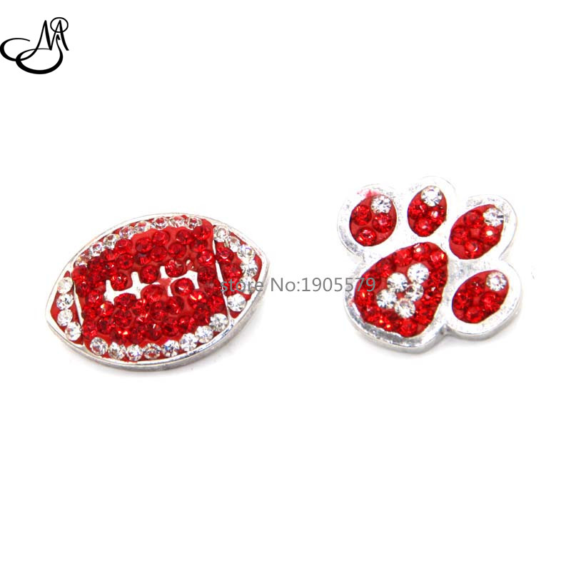 2016 Newest mixed design Red Rugby & Dog/ Cat Paw Print Ginger Snap Buttons Interchangable Jewelry Snap Accessory SB545(China (Mainland))