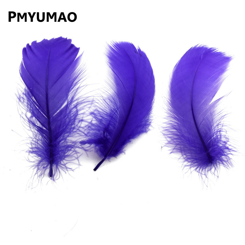 Brand FEATHER# about 10g/lot 7-12cm purple color beautiful goose feathers decorative plume.(China (Mainland))