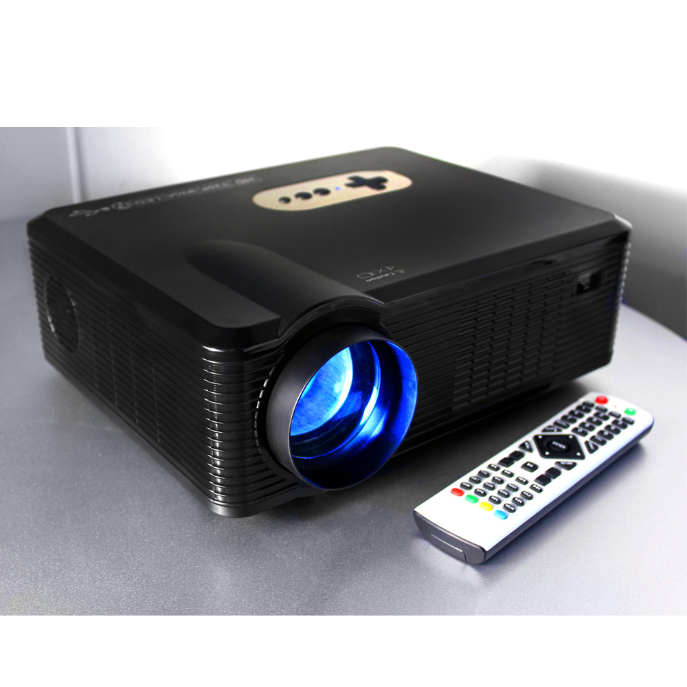 UK stock promotion for games projector native 1280*800 resolution 2000: 1 contrast ration for laptop pc mobile phones ipad mac(China (Mainland))