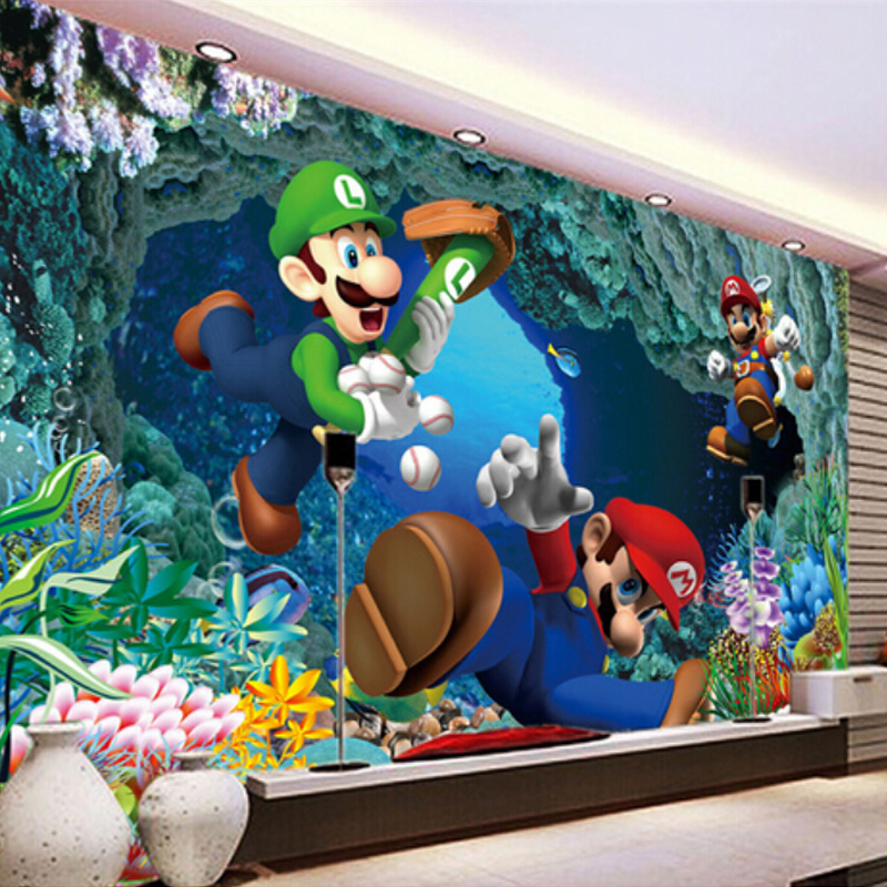 Compare prices on mario material online shopping buy low for Children mural wallpaper