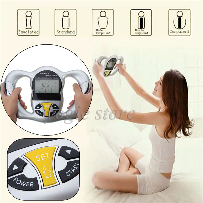 Handheld Digital LCD Body Fat Analyzer Fat Monitor BMI Meter Calculator Calorie Measure Health Body Fat Measuring Equipment