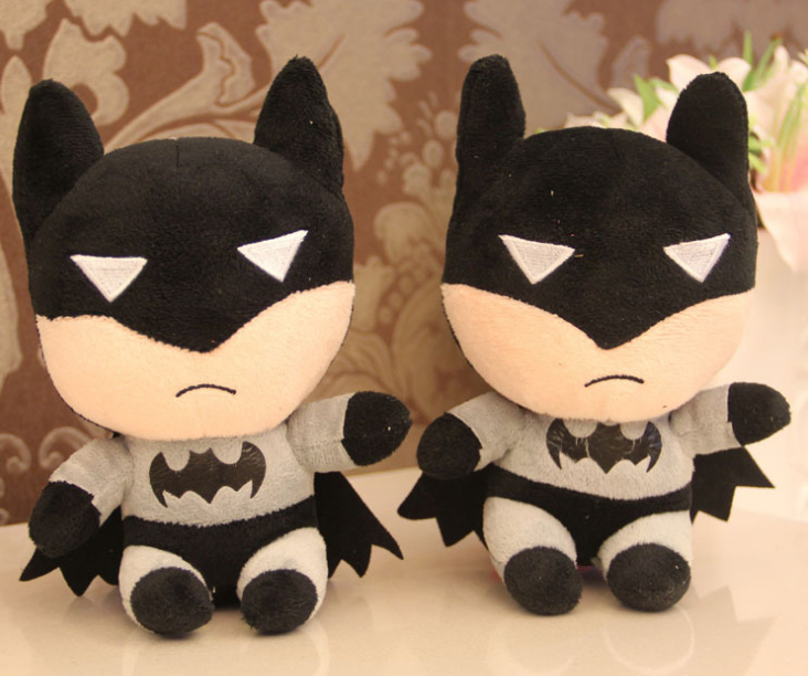 1pc 18cm Batman toys plush toy Children doll for phone Accessories Bag Accessories birthday gift free Shipping WJ004(China (Mainland))