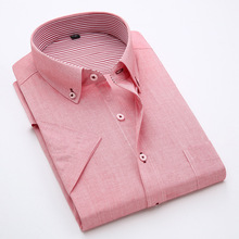 Cotton and linen 2016 cultivate one's morality men's shirt color matching high-end Man linen shirts with short sleeves(China (Mainland))
