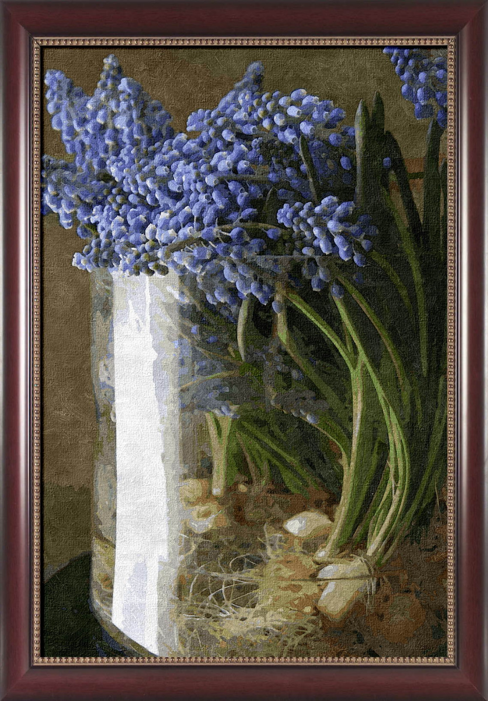 Framed painting by number coloring by number for home decor picture oil painting canvas painting 4050 purple Narcissus(China (Mainland))