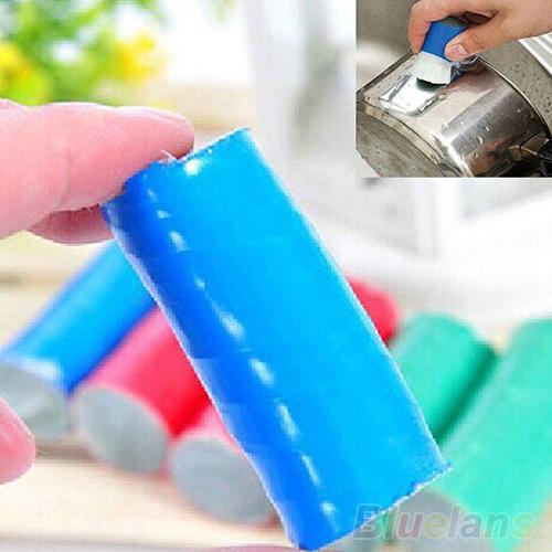 2PCS Magic Stainless Steel Rod Magic Stick Metal Rust Remover Cleaning Brush 1Q7C 47V3(China (Mainland))
