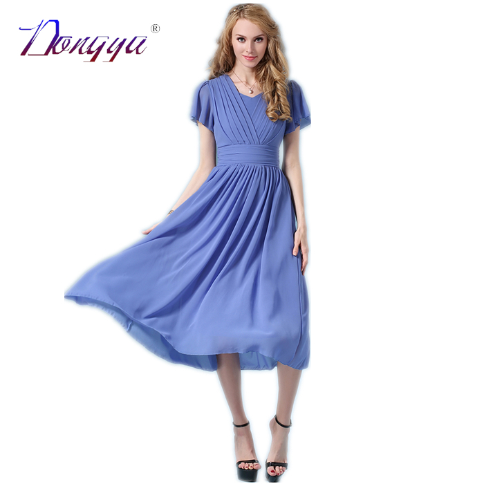 Summer Dress 2016 Style Casual Women Chiffon Dress Color ...