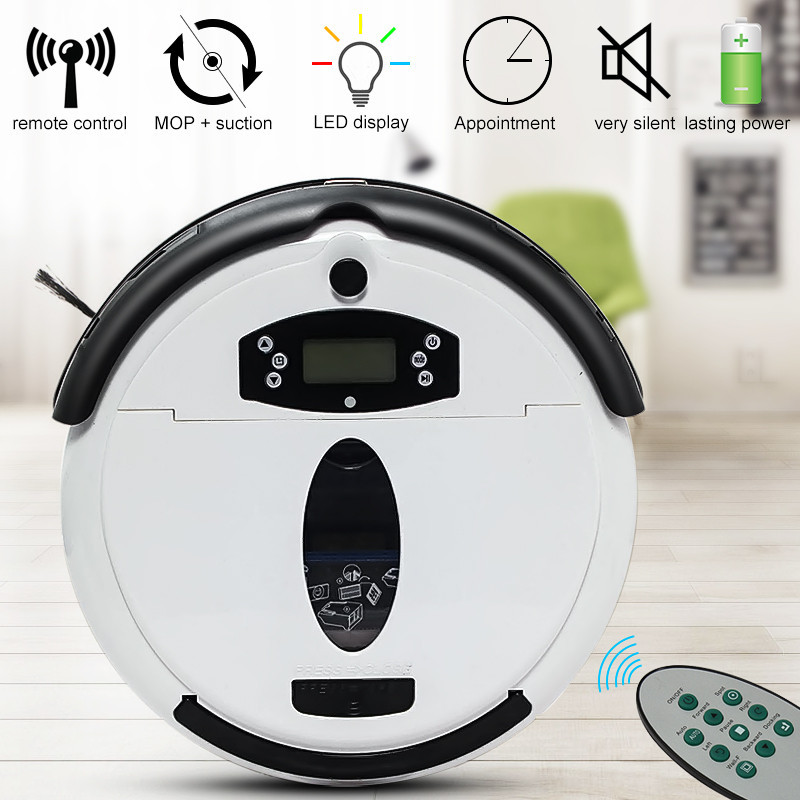Warmtoo White Auto Floor Vacuum Cleaner Robot Smart Robotic Automatical Dust 699B Mopping Robot with Big Suction Power(China (Mainland))