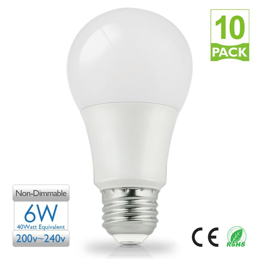 led light 220v 40 watt equivalent 5000k daylight a60 bulb. Black Bedroom Furniture Sets. Home Design Ideas
