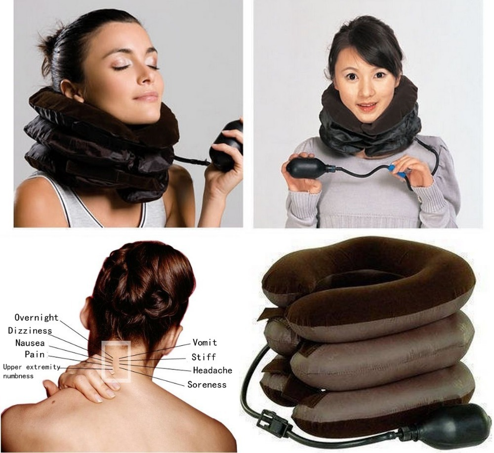 Adjustable Inflatable Neck Stretcher Pain Relief Shoulder Tension Back Traction 1Pcs(China (Mainland))