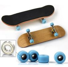 Professional Type Bearing Wheels PU Skid Pad Maple Wood Finger Skateboard Alloy Stent Bearing Wheel Fingerboard Novelty Toy(China (Mainland))