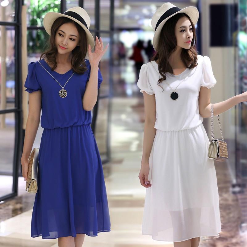 Женское платье Made in China 2015 v/vestidos Summer chiffon dress женское платье made in china 2015 v vestidos summer chiffon dress