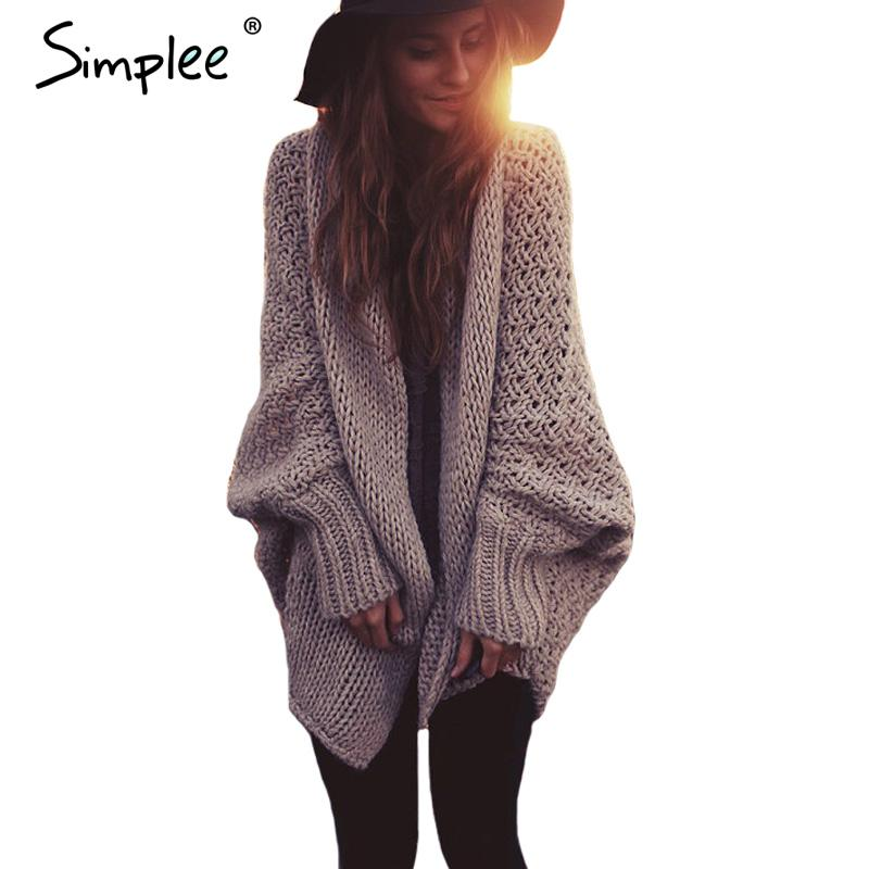 Batwing Knitting Pattern : Aliexpress.com : Buy Simplee batwing knitted shrug sweater women Autumn winte...