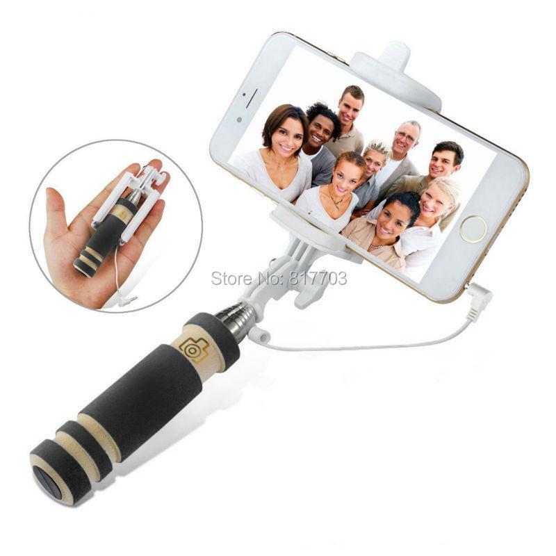 2014 New Hot Sale Telescopic Selfie Jack Wired Bluetooth Remote Selfie