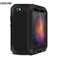 Lovemei Outdoor Life Waterproof Shockproof Silicone Metal Aluminum Tempered Glass Case Cover for Xiaomi Mi 5