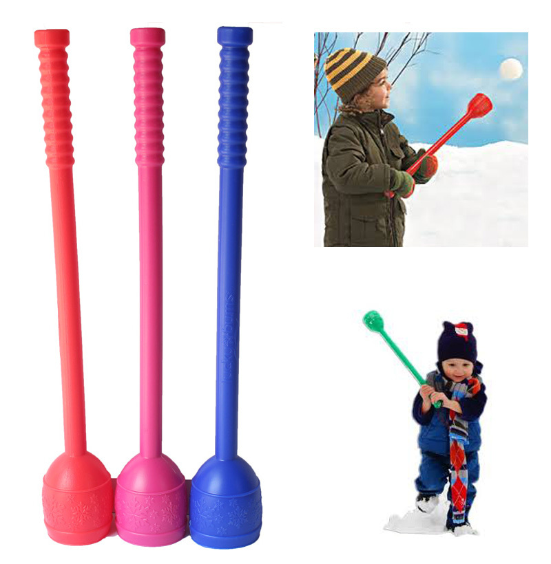Гаджет  Winter Snow Ball Throwing Stick Snowball Thrower Maker Tool Kids Toy Plastic Outdoor Sports Child Toy Random Color None Игрушки и Хобби