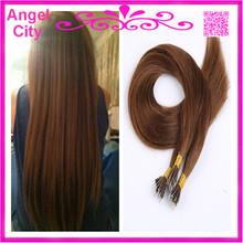cheap prebonded keratin hair NANO RING hair extensions Indian virgin Remy human Hair 1G/S 100G/PC 300G/LOT STOCK Free Shipping