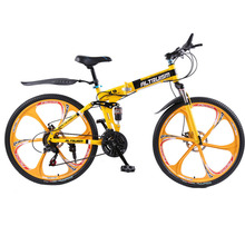 Buy Altruism X9 26 inch folding bike aluminium frame mountain bike bicycles 21 speed disc brakes tall man MTB bikes 6 color bicycle for $322.98 in AliExpress store
