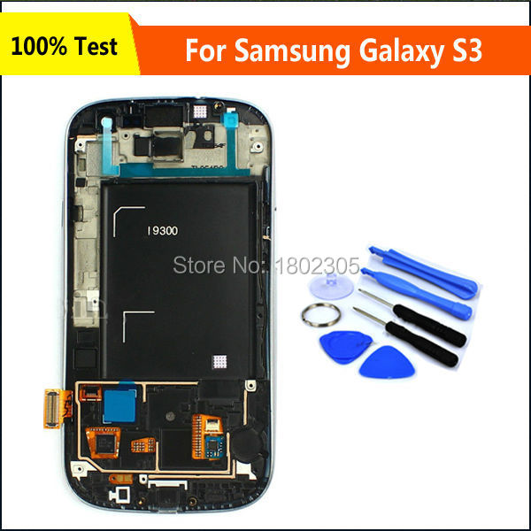 Guarantee LCD Display For Samsung Galaxy S3 i9300 Digitizer Touch Screen Assembly Replacement Parts Black Color,Free Shipping(China (Mainland))