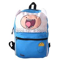 Original Adventure Time Bag Finn Jake Canvas Backpack School Bags for Teenagers Boys Girls Reversible Sided Schoolbag Knapsack