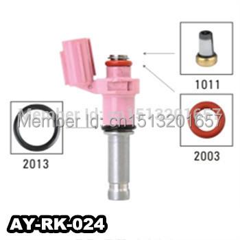 40pieces/sets AY-RK-024 auto parts fuel injector repair kit / fuel injector filter / seals o-rings for japan car(China (Mainland))