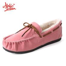 Hellozebra Botas Nieve de Las Mujeres de Fondo Plano Zapatos del Color Puro de Múltiples Guisantes Zapatos de Algodón suave Femenina Bajo Nudo 2016 Invierno Nueva estilo(China (Mainland))
