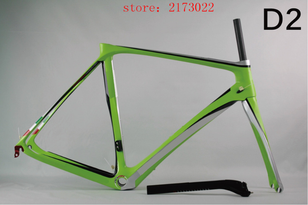 2016 chinese carbon frames D2 green carbon fiber UD toray T800 road frame/Chinese factory wholesale full carbon bike frame DIY(China (Mainland))