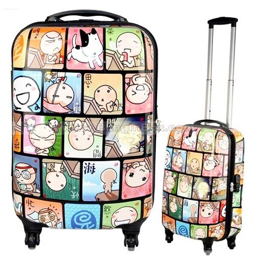 28inch cartoon world ABS+PC fashion 360 degree spinner wheels/swivel wheels cute trolley luggage ,traveller suitcase,Box