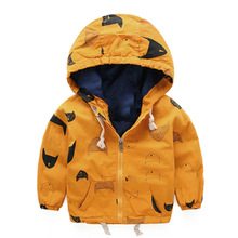 Fashion boys clothes jacket coat autumn winter jacket for baby kids cotton fish print hoodies coat children boys tops outwear(China (Mainland))