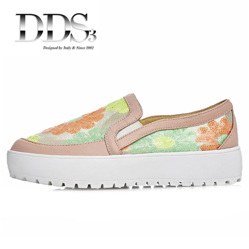 DDS3 Women Platform Flats Black Pink Mesh And Leather Slip On Casual Shoes Woman Flats Females Loafers Breathable Casual Shoes<br><br>Aliexpress