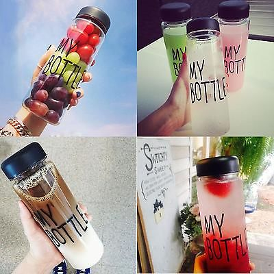 Clear My Bottle Sport Fruit Juice Water Cup Portable 500ML Travel Bottle(China (Mainland))