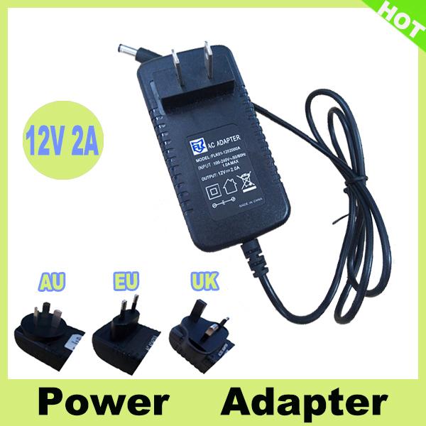 Гаджет  AC100V-240V / DC 12V 2A Power Adapter Wall Charger DC Power Plug EU/AU/UK/US Plug for CCTV Camera None Безопасность и защита