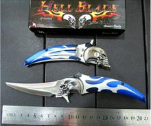 Ultimate fantasy series of hell messenger folding knife 58HRC skulls survival knife Portable outdoor camping knife