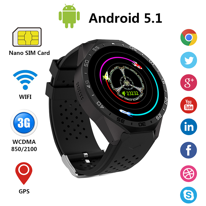 2016 New Torntisc 3G Android 5.1 Smart Watch Phone 1.39 inch Full Round 512MB + 4GB Smartwatch support wifi Google voice GPS Map(China (Mainland))