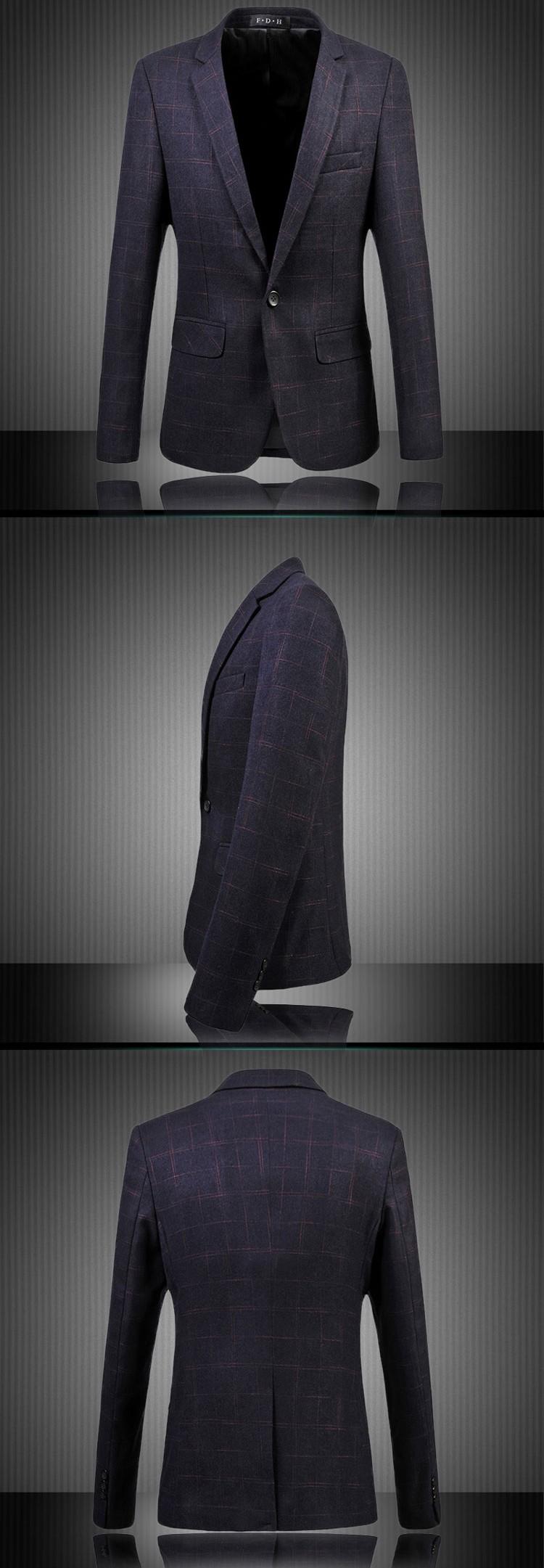 2016 мужчин куртки и пальто мужские свободного покроя мода тонкой Большой размер с длинными рукавами одной кнопки стиль мужчины пиджаки куртки