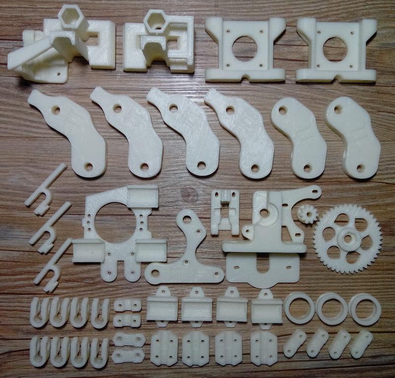 Heacent Abierto RepRap Prusa Mendel i2 DIY Impresora 3D de Plástico ABS Set de Piezas de Impresión-Blanco (18 Especies) envío Gratis(China (Mainland))