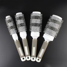 1pc Ceramic Ionic Radial Round Comb Hair Dressing Brush Salon Styling Barrel Anti-static escova de cabelo Detangling Hairbrush