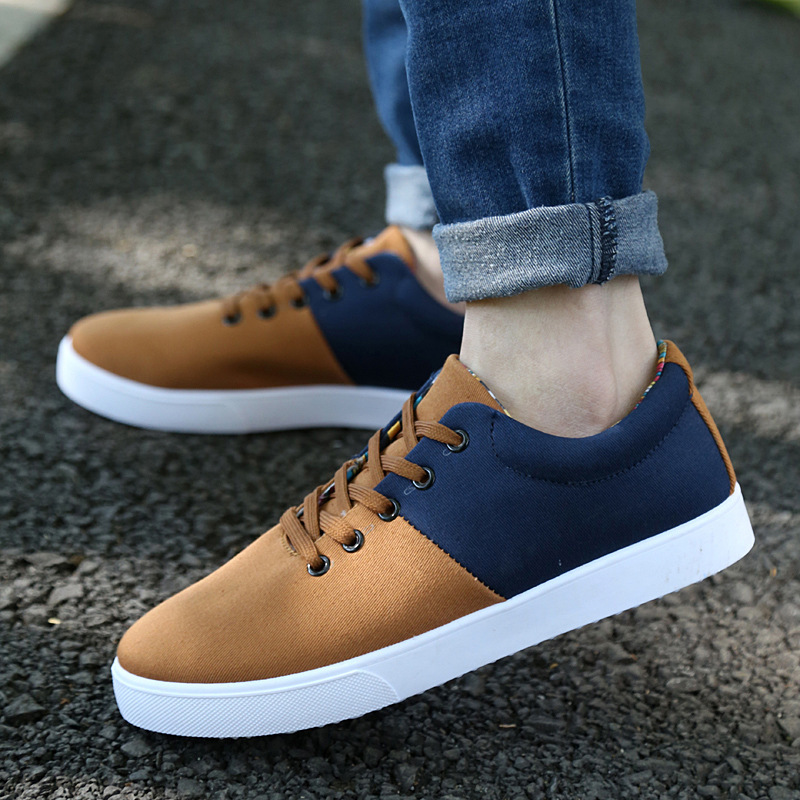 2015 Hot Sale Adult Outdoor Shoes New Fashion Flats Men Shoes Fashion Sneakers Spring/Autumn Free Shopping #048(China (Mainland))
