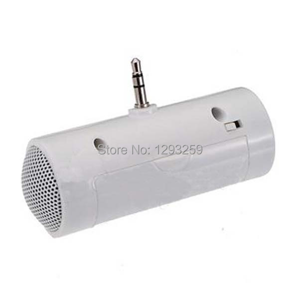 1PC Portable 3.5mm Mini Stereo Speaker For iPhone 5 4 4S Samsung iPod MP3 MP4 Laptop rfEA(China (Mainland))